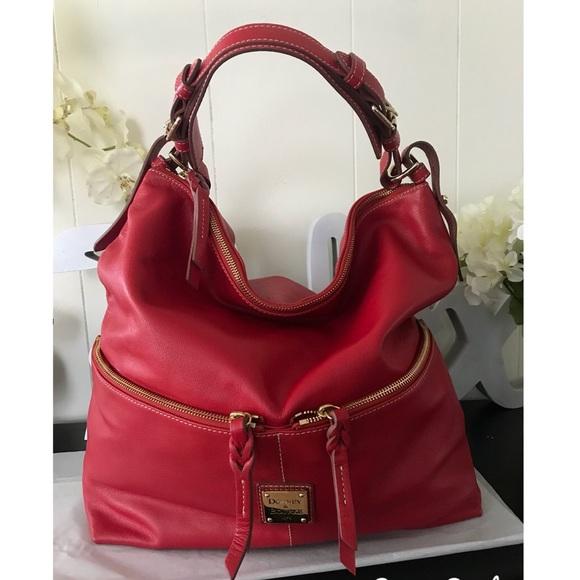 b4d42dc62a Dooney   Bourke Handbags - Dooney   Bourke Red Dillen Large Hobo Sac ...
